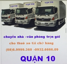 xe tải chở hàng quận 10