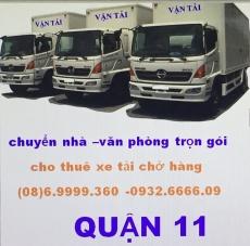 xe tải chở hàng quận 11
