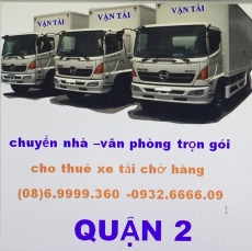 xe tải chở hàng quận 2