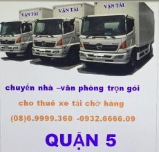 xe tải chở hàng quận 5
