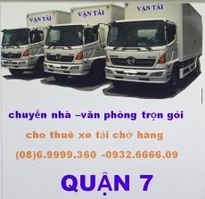 xe tải chở hàng quận 7